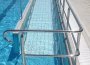 Accessibility Equipment. Pool ramp handrail