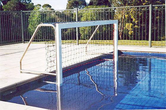 Aquatic play water polo goals installation