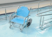 Stainless steel wheelchair design to be used in and out of water