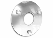 Stainless steel flange cover with screw holes