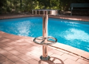 Pool Bar Stool by AQUEAS mirror finish prior to installation