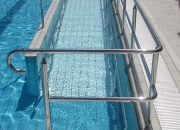 hand grab rail swimming pool assist stainless steel
