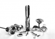A selection of stainless steel pool fittings for various applications