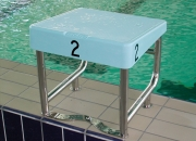 Starting platform for swimming pools Model AQ-SP07, for narrow upstands.