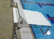 Starting platform for swimming pools Model AQ-SPE02, Elite model for wet deck pools.