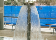 Shower head styled water feature offered by Drizign