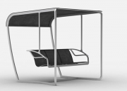 Wet area furniture swinging chair with stainless steel frames