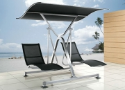 Wet area furniture set with stainless steel frames