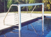 Aquatic play water polo goals installation