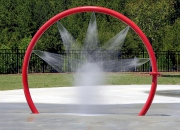 Aquatic play interactive water spray installation