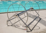 Lane rope reel premium stainless steel mirror finish