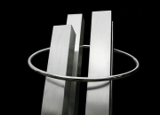 Custom made stainless steel water feature